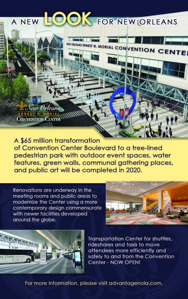 New Orleans Convention Center Pedestrian Park Infographic